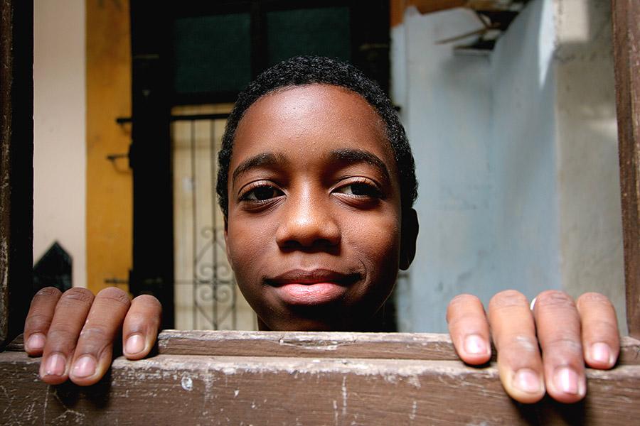 in einem kubanischen Innenhof